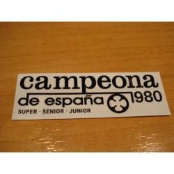 Adh. Ossa Campeona 1980