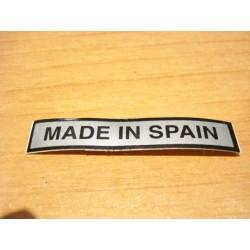 Adh. Made in Spain plata-negro