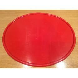 Portanúmeros ovalado rojo