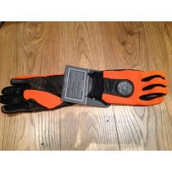 Guantes Bultaco nylon-piel naranja L