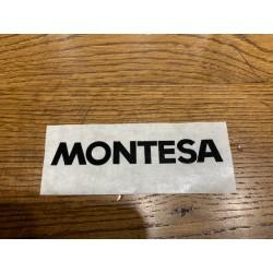 Adhesivo Montesa negro 10cm