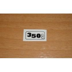 Adh. 350cc. transparente