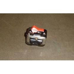 Conmutador cromo clásico rojo