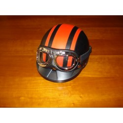 Casco rojo + gafas XL