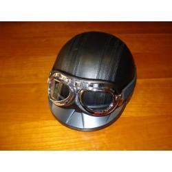 Casco negro + gafas L